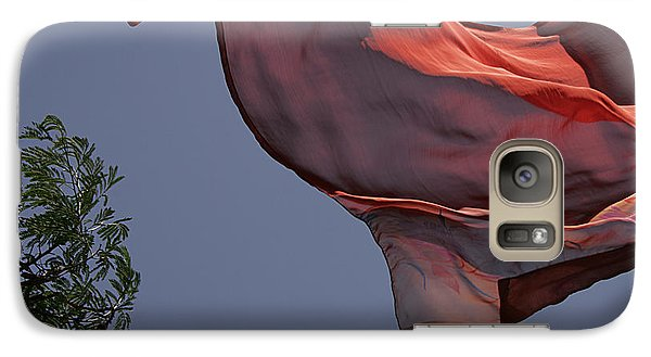 Galaxy Case featuring the photograph Skc 0958 The Flying Saree by Sunil Kapadia