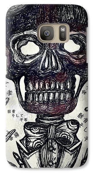 Skull And Equality Galaxy S7 Case by Akiko Okabe