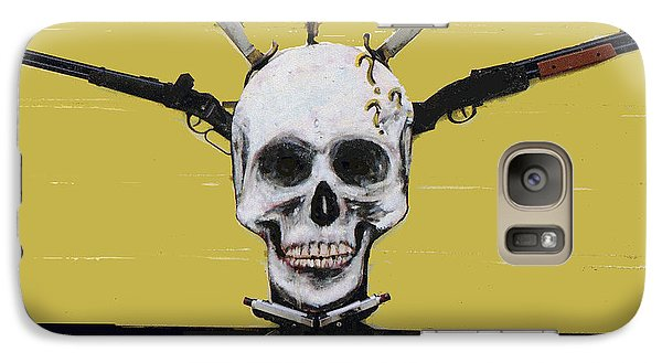 Skull With Guns Galaxy S7 Case