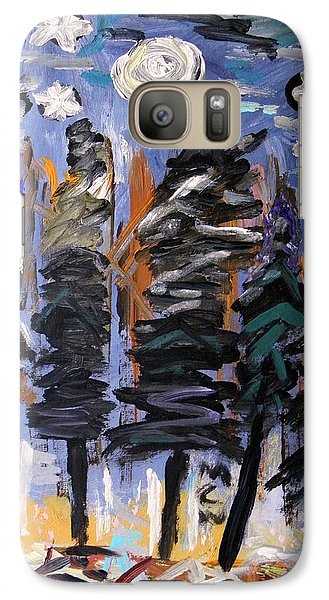 Galaxy Case featuring the painting Sky Above The Forest by Mary Carol Williams