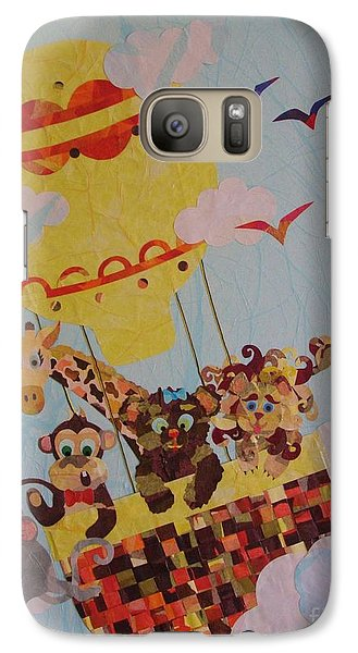 Galaxy Case featuring the mixed media Sky Adventurers by Diane Miller