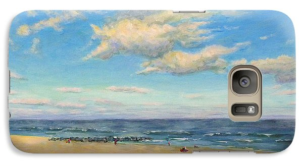 Galaxy Case featuring the painting Sky And Sand by Joe Bergholm
