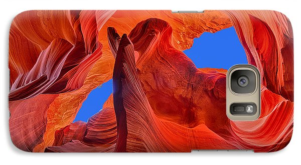 Galaxy Case featuring the photograph Sky Eyes In Antelope Canyon by Greg Norrell