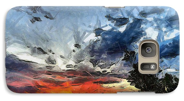 Galaxy Case featuring the painting Sky by Georgi Dimitrov