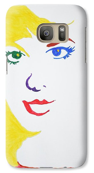 Galaxy Case featuring the painting Blonde Mother Nature by Stormm Bradshaw
