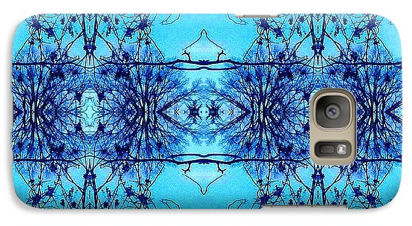 Galaxy Case featuring the photograph Sky Lace Abstract Photo by Marianne Dow