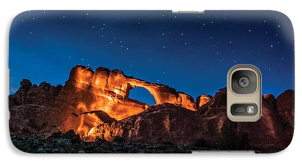 Galaxy Case featuring the photograph Sky Line Light by Daniel Hebard