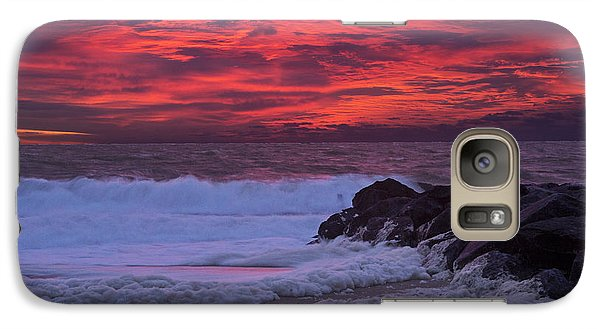 Galaxy Case featuring the photograph Sky On Fire In Lewes by Robert Pilkington