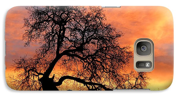 Galaxy Case featuring the photograph Sky On Fire by Priya Ghose