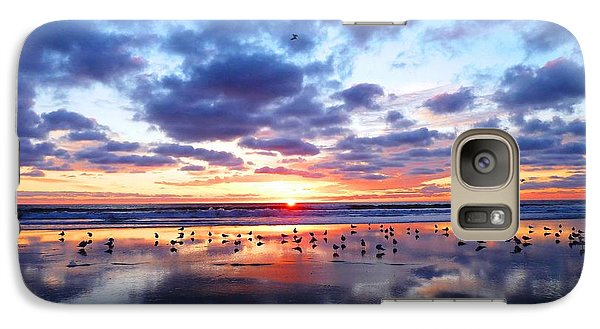 Galaxy Case featuring the photograph Sky Reflections by Julia Ivanovna Willhite
