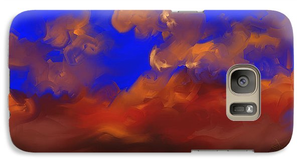 Galaxy Case featuring the painting Sky by Steven Lebron Langston