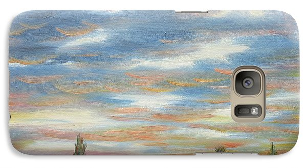 Galaxy Case featuring the painting Sky by Vesna Martinjak