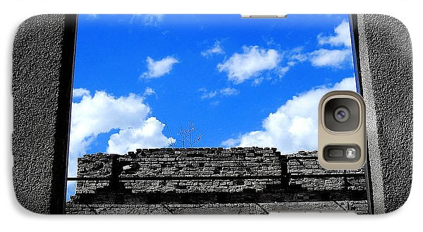 Galaxy Case featuring the photograph Sky Windows by Nina Ficur Feenan