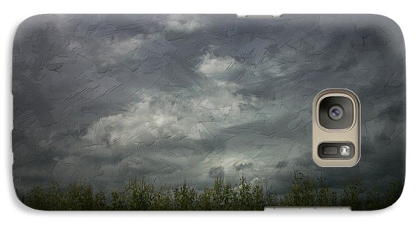 Galaxy Case featuring the photograph Sky With Cornfield by Cynthia Lassiter