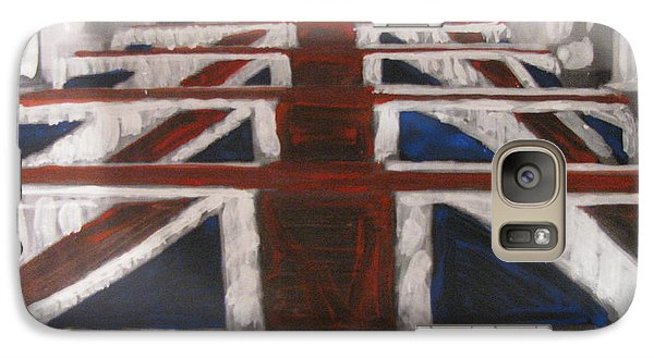 Galaxy Case featuring the painting Skyfall by Vikram Singh