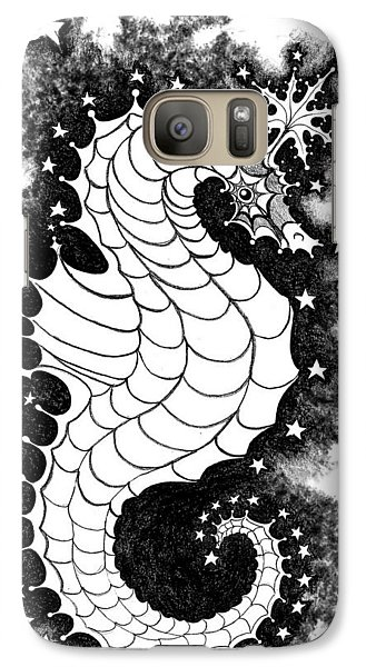 Galaxy Case featuring the digital art Skyhorse by Carol Jacobs