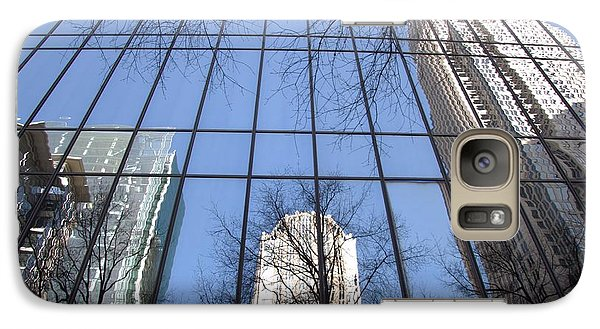 Galaxy Case featuring the photograph Skyscraper Reflections - Charlotte Nc by Shelia Kempf