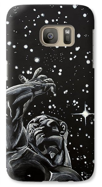 Galaxy Case featuring the painting Skyward by Denise Deiloh