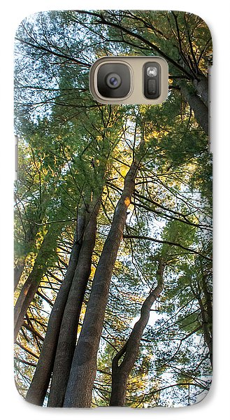 Galaxy Case featuring the photograph Skyward Trees by Dawn Romine