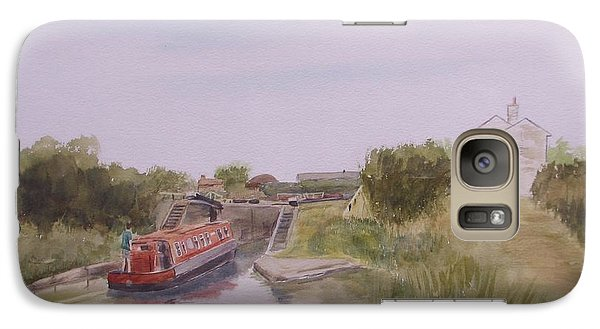Galaxy Case featuring the painting Slapton Lock by Martin Howard