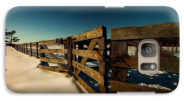 Galaxy Case featuring the photograph Slate Run Gates by Haren Images- Kriss Haren