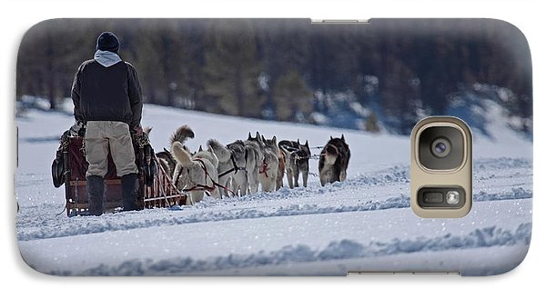 Galaxy Case featuring the photograph Sled Dog  by Duncan Selby