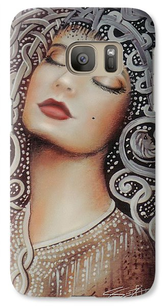 Galaxy Case featuring the painting Sleeping Beauty by S G