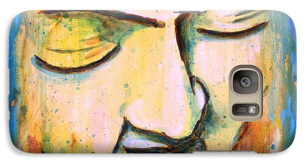 Galaxy Case featuring the painting Sleeping Buddha Head by Bob Baker