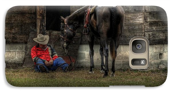 Galaxy Case featuring the photograph Sleeping Cowboy by Donald Williams