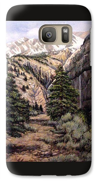 Galaxy Case featuring the painting Sleeping Faces In The Rock by Donna Tucker