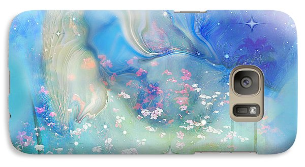 Galaxy Case featuring the painting Sleeping In The Heavens by Sherri  Of Palm Springs