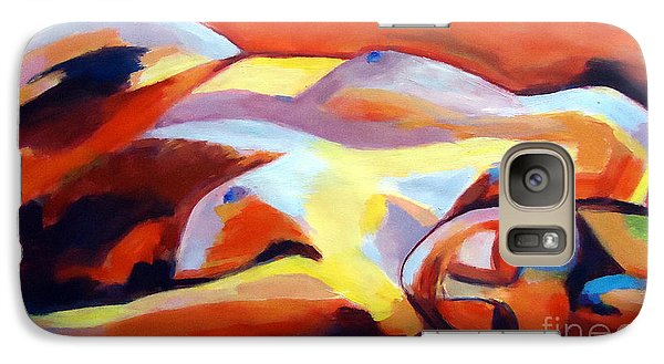Galaxy Case featuring the painting Sleeping Lady by Helena Wierzbicki