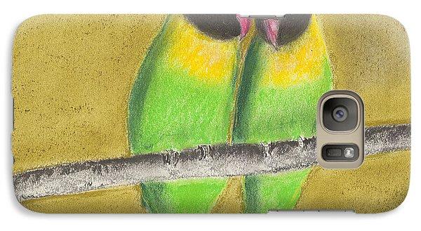 Galaxy Case featuring the pastel Sleeping Love Birds by David Jackson