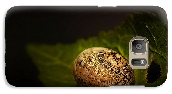 Galaxy Case featuring the photograph Sleeping Snail 01 by Kevin Chippindall