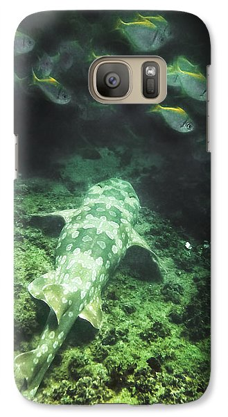 Galaxy S7 Case featuring the photograph Sleeping Wobbegong And School Of Fish by Miroslava Jurcik