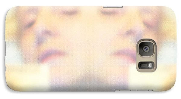 Galaxy Case featuring the photograph Sleeping Woman Drifting In Dreams by Marian Cates