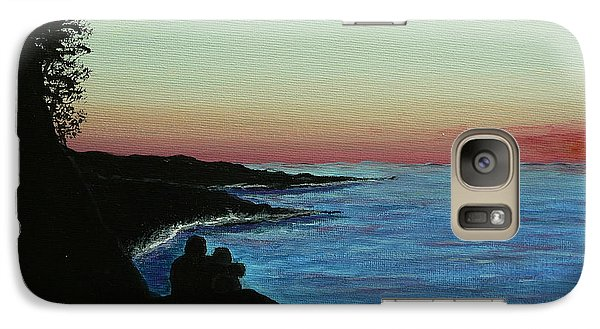 Galaxy Case featuring the painting Sleepy Blue Ocean by Dan Wagner