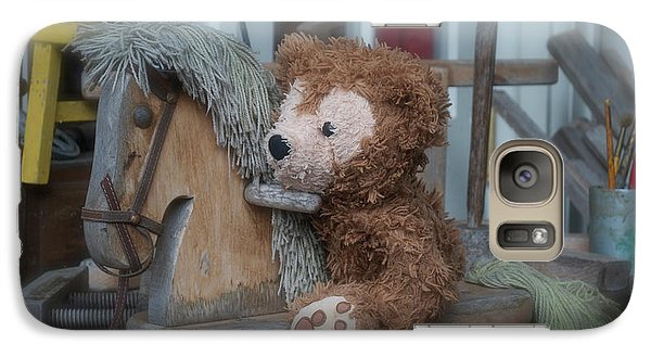 Galaxy Case featuring the photograph Sleepy Cowboy Bear by Thomas Woolworth