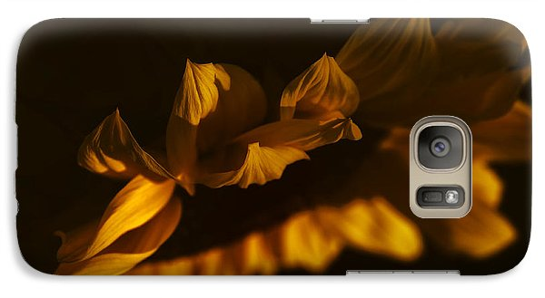 Galaxy Case featuring the photograph Sleepy Sunflower by The Forests Edge Photography - Diane Sandoval