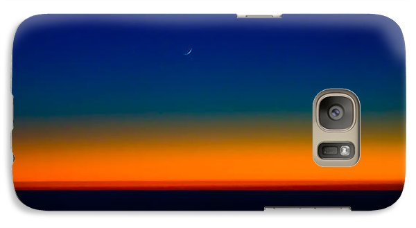 Galaxy Case featuring the photograph Slice Of Moon In The Night Sky by Don Schwartz