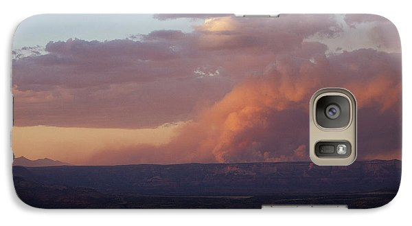 Galaxy Case featuring the photograph Slide Fire Sunset by Ron Chilston