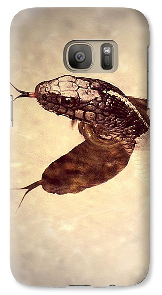 Galaxy Case featuring the photograph Slithering Reflections by Melanie Lankford Photography