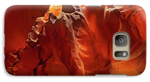 Galaxy Case featuring the photograph Slot Canyon Formations In Upper Antelope Canyon Arizona by Dave Welling