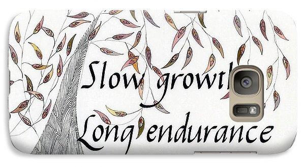 Galaxy Case featuring the drawing Slow Growth. Long Endurance. by Dianne Levy