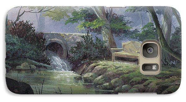 Galaxy Case featuring the painting Small Falls Descanso by Michael Humphries