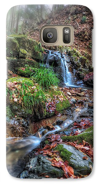 Galaxy Case featuring the photograph Small Fog Waterfall by John Swartz