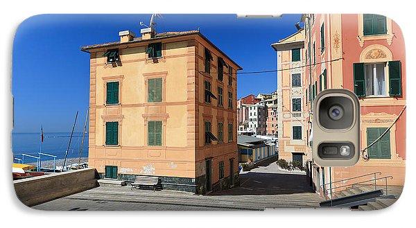 Galaxy Case featuring the photograph small square in Sori by Antonio Scarpi