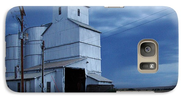 Galaxy Case featuring the photograph Small Town Hot Night Big Storm by Cathy Anderson