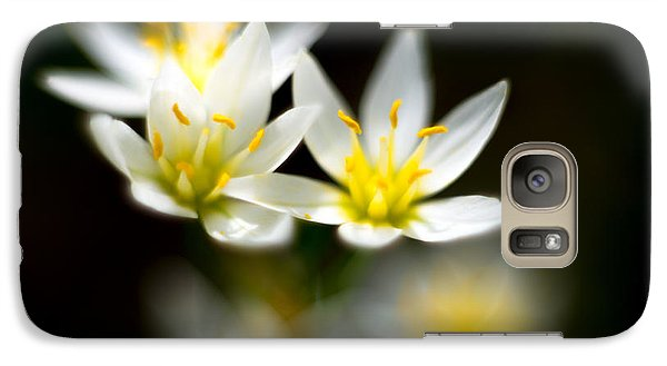 Galaxy Case featuring the photograph Small White Flowers by Darryl Dalton
