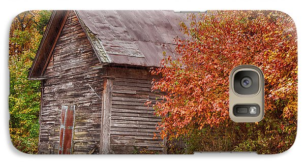 Galaxy Case featuring the photograph Small Wooden Shack In The Autumn Colors by Jeff Folger